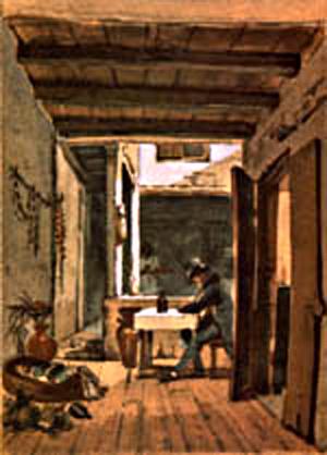 Veranda from Debret's Voyage Pictoresque et Historique au Bresil, Paris 1834. Thanks to www.multirio.rj.gov.br